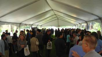 On Decision Day, the college's tent was busy.