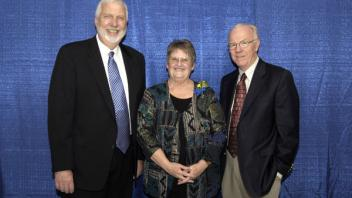 Dean Neal Van Alfen, Carol Cooper, and Chancellor Larry