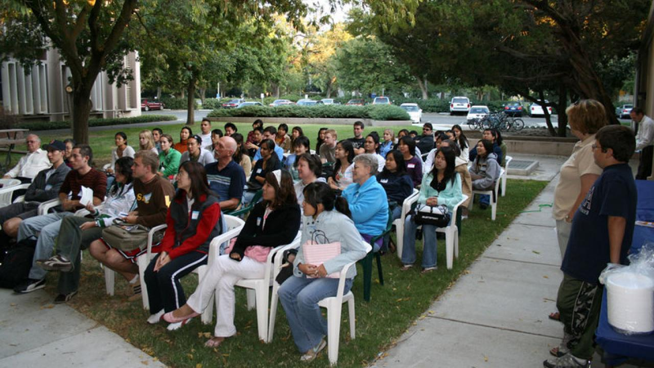 Orientation attendees